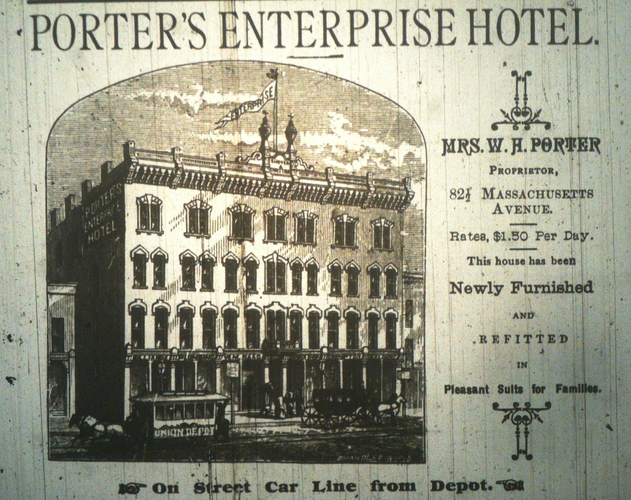 Sunday Ads: The Mass Ave Hotel that Was