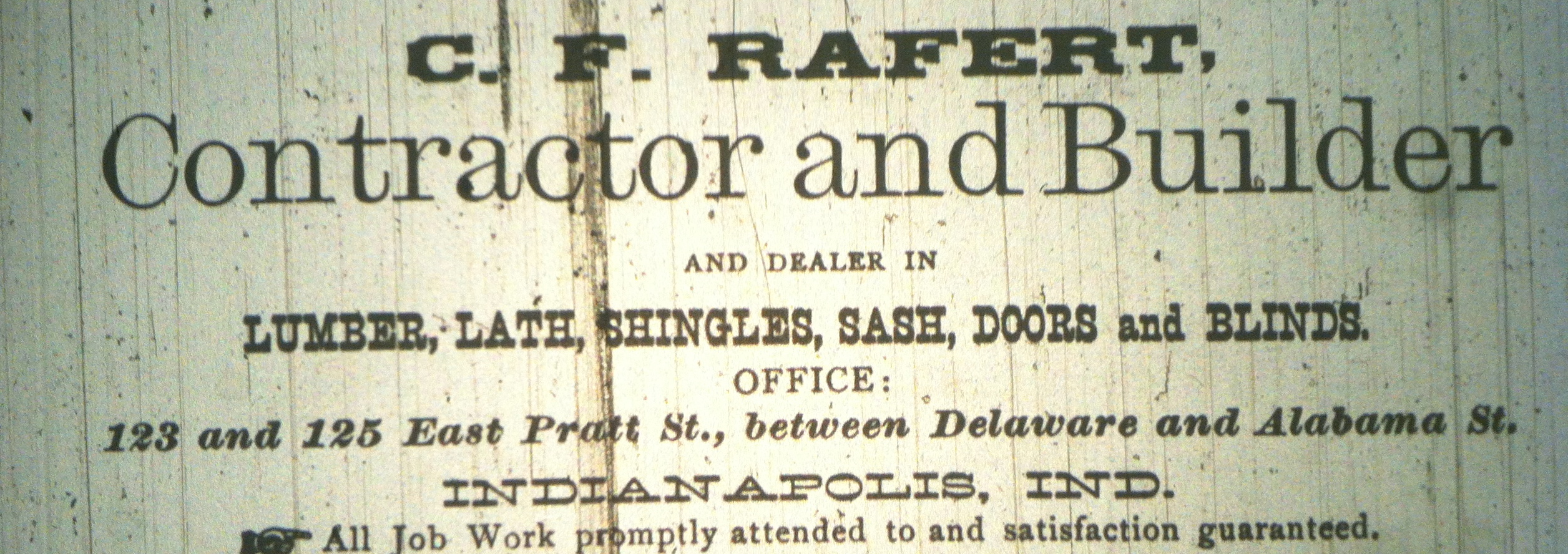 Sunday Adverts: C. F. Rafert, Contractor
