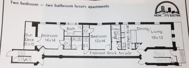 Glencoe Floor Plan - Acquisition & Restoration Corp. Pamphlet ca. 1980