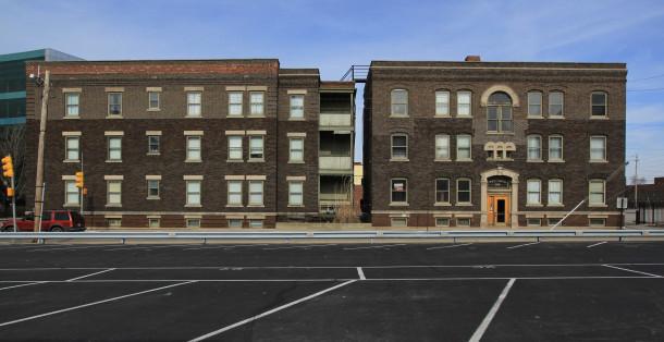 Sylvania facade on St. Clair Street, 2013, (c) photo by Kurt Lee Nettleton