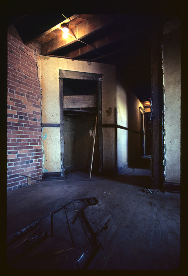 Renovation work on the Sylvania, early 1980's, IHPC Slide Collection