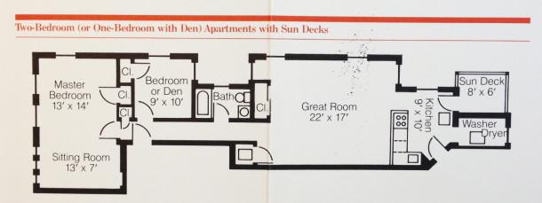 Sylvania Floor Plan - Acquisition & Restoration Corp. Pamphlet ca. 1980's