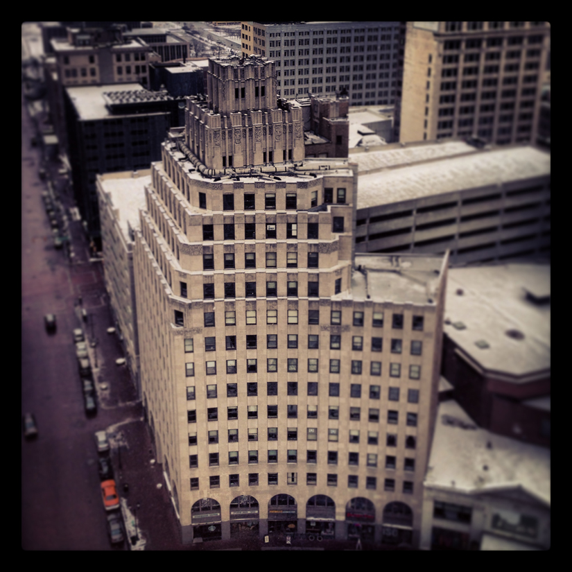 A Room With A View – Circle Tower from the Soldiers and Sailors Monument