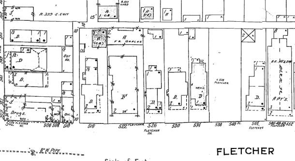 1950 Sanborn map
