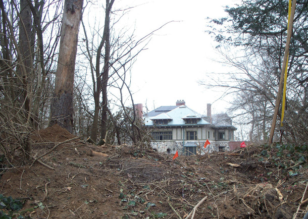 The residence at 3650 Spring Hollow Road is currently undergoing a complete restoration