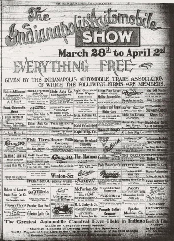 Indianapolis Auto Show 3-27-1910