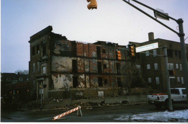 Chadwick after fire, Indiana Landmarks, 2011
