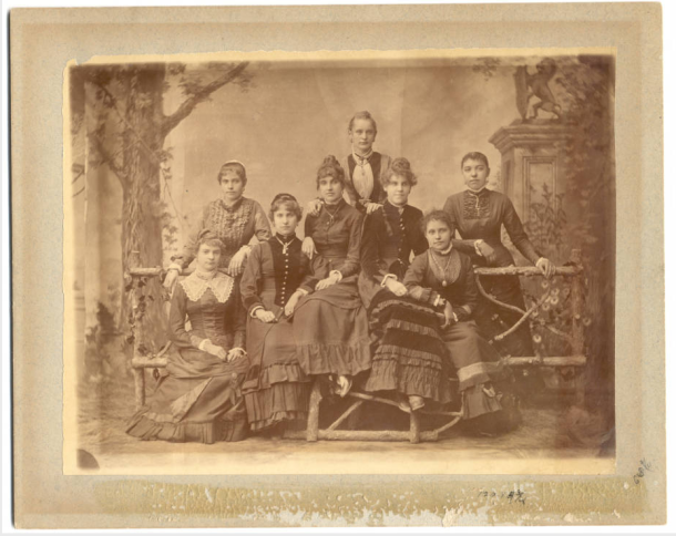 Damenverein Group and Individual Portraits, 1884. Image via IUPUI's Athenaeum Damenverein & Women's Auxiliary Image Collection