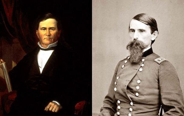 6th Governor David Wallace (left) and his son, Col. Lew Wallace