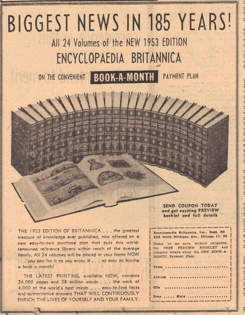 Sunday Adverts: Encyclopedia Britannica