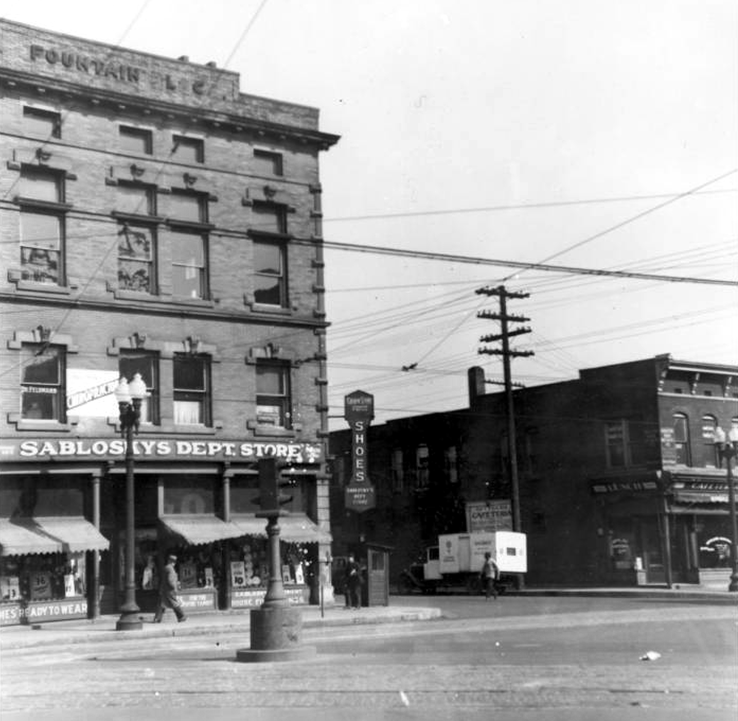 Indianapolis Then And Now: Fountain Square At Prospect And