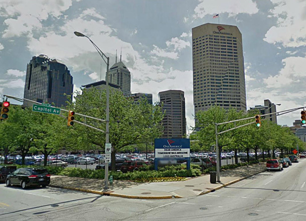 2011 view of the southeast corner of N. Capitol Avenue and W. Vermont Street (image courtesy of Google maps)