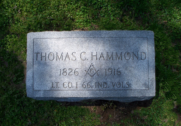 Thomas C. Hammond (1826-1916) is buried in the Fall Creek Union Cemetery (photo by Sharon Butsch Freeland)