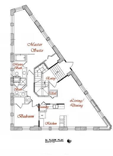 Floor Plan of 1st Floor, www.lavonproperties.com