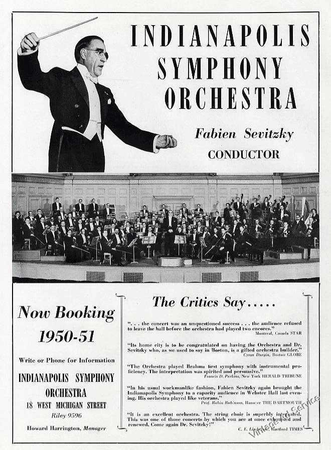 Sunday Adverts: Indianapolis Symphony Orchestra