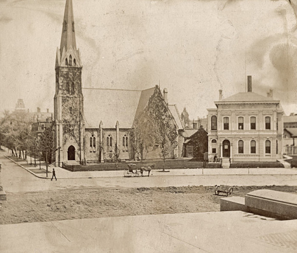 Christ Episcopal Church around 1900 (photo courtesy of INDIANA HISTORICAL SOCIETY)