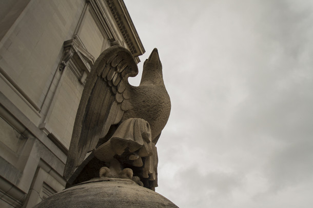 Eagle statue, 2013, (c) photo by Kurt Lee Nettleton
