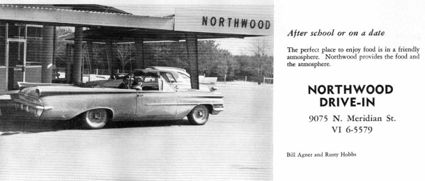 Northwood ad from 1963 North Central yearbook, courtesy of Evan Finch