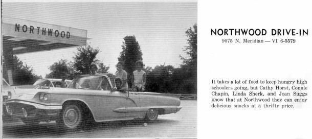 Northwood ad from 1962 North Central yearbook, courtesy of Evan Finch