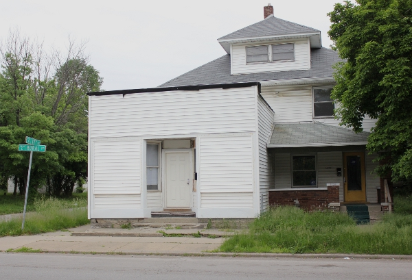 Located at 17th and Rural streets, this property has a commercial-like addition attached to the front of it.