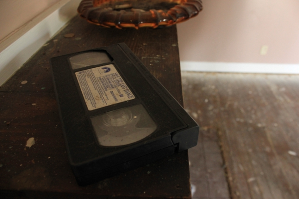 "A VHS of ""Save the Last Dance"" rests, forgotten, on top of the fireplace. (photo by Dawn Olsen)"