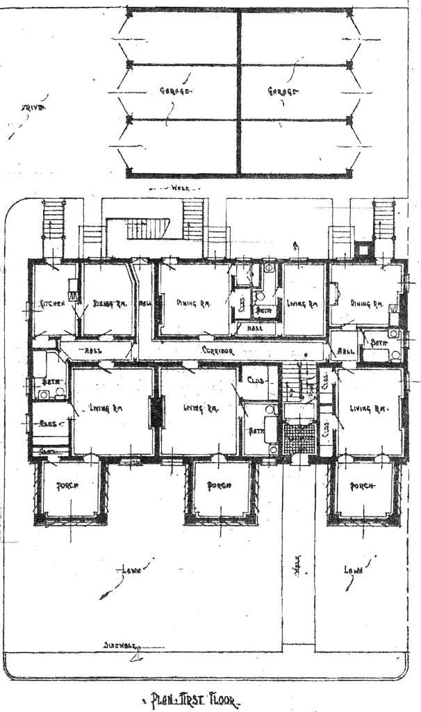 Gausepohl Floor Plan, IndyStar, 8/13/1916