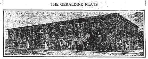 Geraldine (Avondale) Flats, IndyStar Ad, 9/13/1908