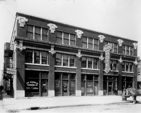 New Jersey Street facade, 1917, courtesy Indiana Historical Society, Bass Photo Collection