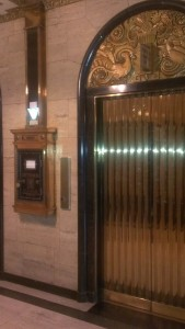 The impossible mailbox and the inconsistent elevators -- all a part of the American Building's charm.