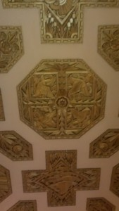 The ceiling of the lobby in the American Building.