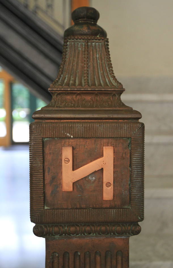 Decorative post on staircase, 2013, (c) photo by Kurt Lee Nettleton