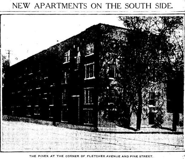 Pinex Apartments, IndyStar, 10/7/1917