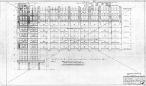 This elevation, a work of art in its own right, shows that the original design continued the brick and terracotta facade design of the University Park Building until an alternate for the stone facade was accepted in late 1928. The Indiana Historical Society has many of these amazing original hand-made drawings and details in their archives.