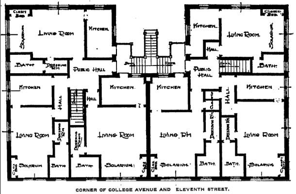 Walbrook Floor Plan, IndyStar, 5/28/1916
