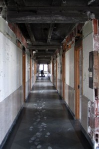 While very little of the American Building's original construction was left intact on the upper floors, the original circulation pattern has been restored which, in turn, has allowed for the restoration of the terrazzo floors on floors 4-10.