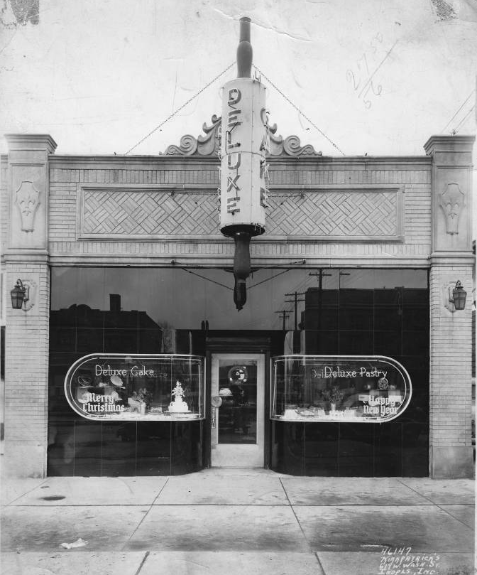 Indianapolis Then and Now: DeLuxe Cake & Pastry Shop, 657 E. 38th Street