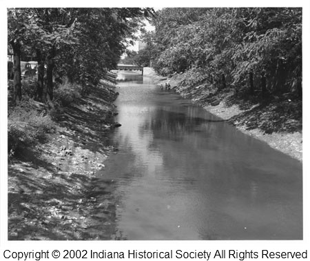 Banks of the Indiana Central Canal, Indianapolis 1945-1960.