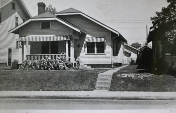 Marge's first childhood home, 5331 Broadway. Courtesy of Marge Faulconer.