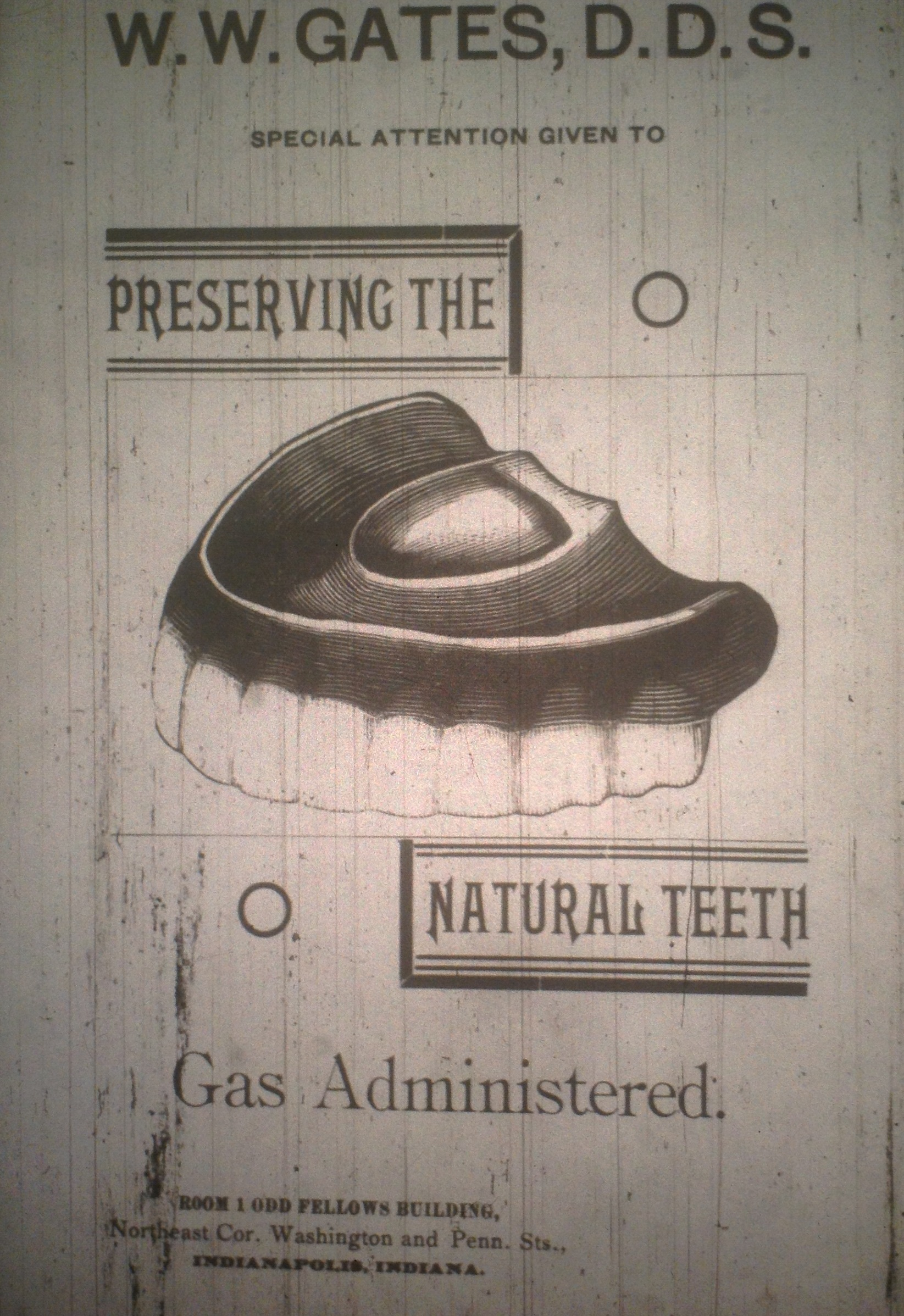 Sunday Adverts: W.W. Gates, DDS