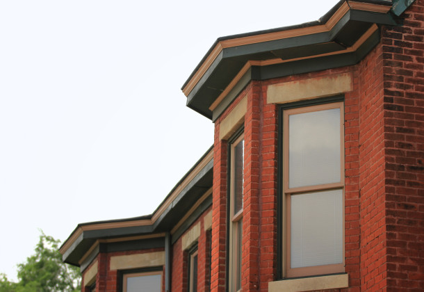 Bay window details, Rafert Flats, 2013, (c) photo by Kurt Lee Nettleton