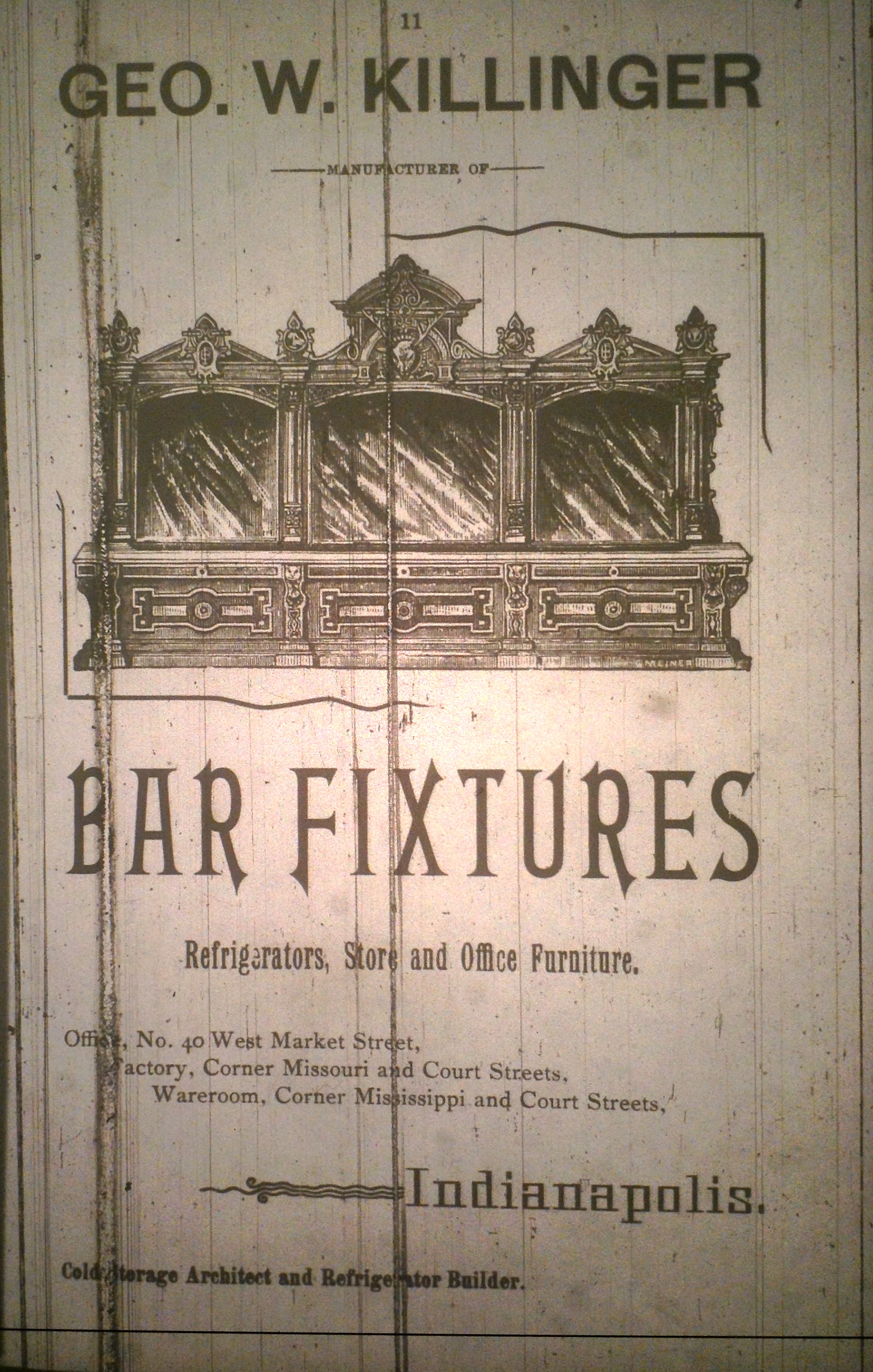 Sunday Adverts: Killinger Bar Fixtures