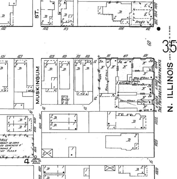 Pasadena Flats, Sanborn map, 1915