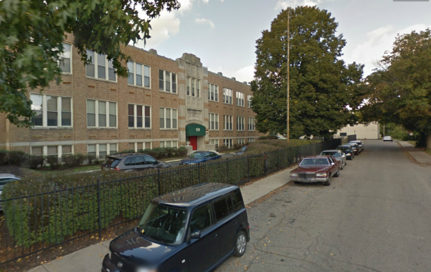 School #80 at 62nd and Guilford Ave. has been converted into an apartment building.