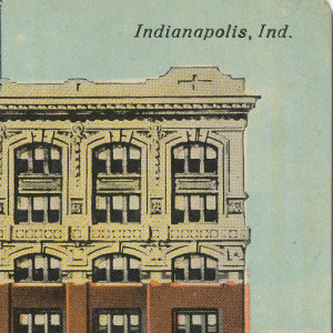 A vintage postcard gives us a glimpse of the building's external detail. Photo used with permission: Hoosier Recollections.