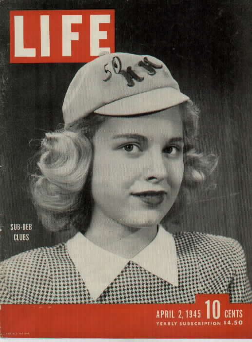 LIFE magazine featured Broad Ripple's own Joan Geisendorff in an article about Indiana sub-deb clubs, April 1945.