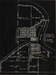Map showing Broad Ripple lots north of the canal and Wellington lots south of the canal CLICK TO ENLARGE