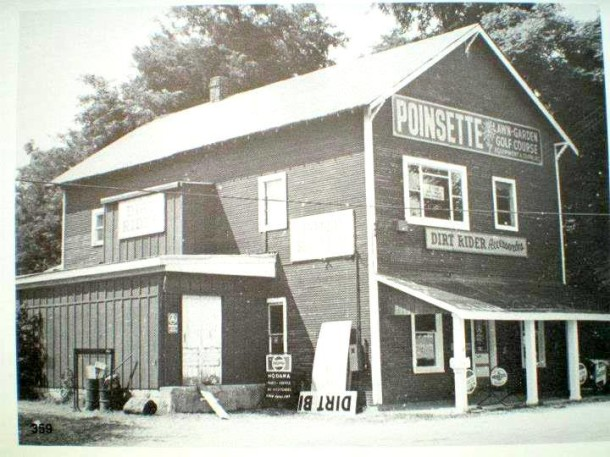 "1972 - A lawn mower shop that often sported a sign on the front door that read, ""gone fishing."""