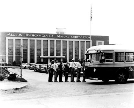 Allison Motors, a General Motors division, located on 10th St. 1940. INDIANA HISELKSJFSD