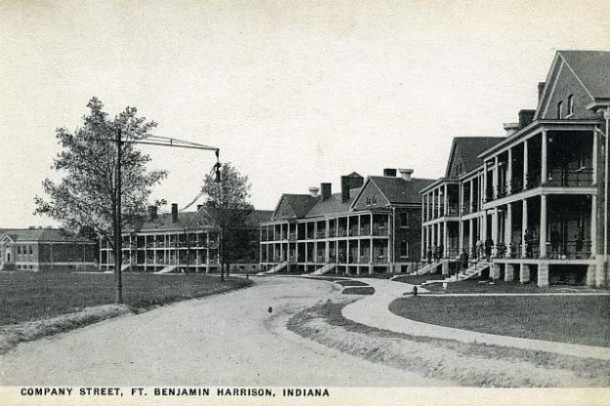 Fort Benjamin Harrison during the WWII era. From IndianaPublicMedia.org.