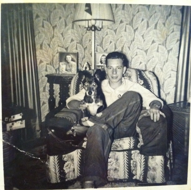 Ruth's husband, Darrell, in his home. Courtesy of Ruth Shaw.
